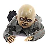 shyln Zombie Scary Baby Animated Crawling Doll Ghost Babies Prop for Halloween Decor Props Supplies