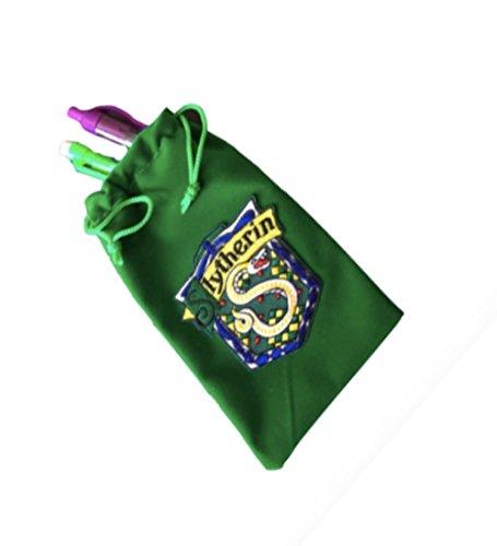 Harry Potter Gryffindor Red Velvet Pencil Case With House Crest Slytherin Green