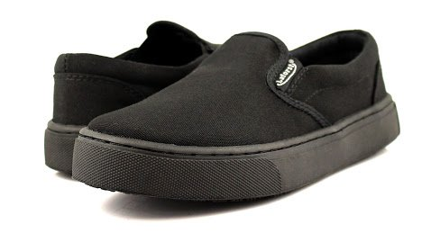 Laforst Womens Dart Non Slip Sunbrella Slip Resistant Server Waitress Nurse Slip On Flat Black 8.5