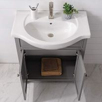 Luca-Kitchen-Bath-LC30HGP-French-Gray-Carson-30-Single-Sink-Bathroom-Vanity-White-Porcelain-Countertop-No-Assembly-Required