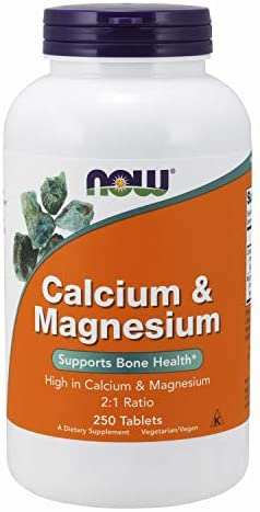 NOW Supplements, Calcium & Magnesium 2:1 Ratio, High Potency, Supports Bone Health*, 250 Tablets 3