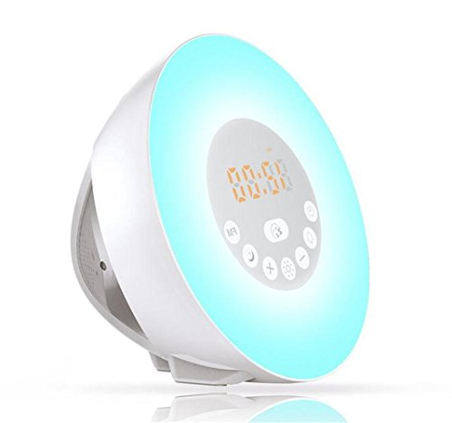 W-ONLY YOU-J Creative Smart Bedside Wake Up Light With Alarm Clock Natural Awake Gift Custom Help Sleep Light Xmas Holiday High-End Gifts