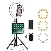 LED Ring Light with Phone Tripod Stand Kit - Yingnuost 10'' Camera Photography Video Recording Selfie Ringlight with…