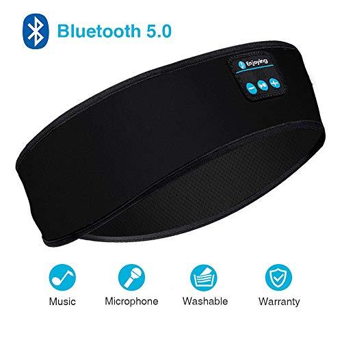 Sleep Headphones, Sleep Headphones Bluetooth, Headband Headphones with Built -in Speakers, Sports Headband with Bluetooth Headphones for Sleeping, Running (Black)