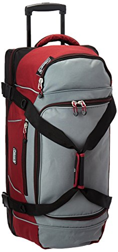 Coleman Tactical Gear Drop Bottom Duffel, 30' Rolling, Burgundy One Size