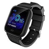 ApexJoy Waterproof Smartwatch with 24 hour Heart Rate & Activity Tracking, Blood Pressure, Oxygen Level, Sleep Monitor, Ultra-Long Battery Life, Sports Mode: Run/Swim/Bike/Tennis, US Service &Warranty