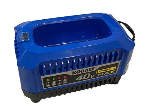 Kobalt 40-Volt Lithium Ion (Li-Ion) Generation 2 Compact Cordless Power Equipment Battery Charger with New Top Load Design, 2019 Model