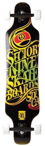 Sector 9 Mini Shaka II Rasta Complete Longboard Skateboard - 9.75' x 40.5'