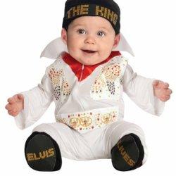 Elvis Onesie Costume, White, Newborn
