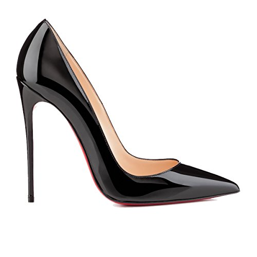41Jn1cmqZfL PUMPS CHRISTIAN LOUBOUTIN, LEATHER 50%, PATENT LEATHER 50%, color BLACK, Heel 120mm, Leather sole, SO KATE, FW17, product code 3130694BK01 FW17