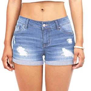Wax Women's Juniors Body Enhancing Denim Shorts 8 Fashion Online Shop 🆓 Gifts for her Gifts for him womens full figure