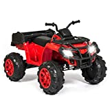 Best Choice Products 12V Kids Powered ATV Quad 4-Wheel Ride-On Car w/ 2 Speeds, Spring Suspension, MP3, Storage - Red