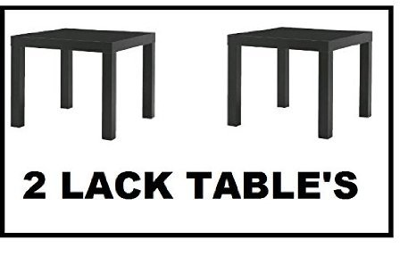 Ikea Table End Side Black (2 Pack) Lack