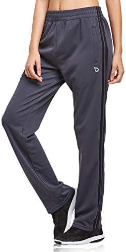 BALEAF Women's Track Pants Athletic Sports Sweat Pants Open Leg Jogger Sweatpants Zippered Pockets Lounge 1