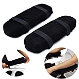 JangGun Store 2pcs Slow Rebound Memory Foam Armrest Cushion Pad Mayitr Removable Soft Chair Mat Elbow Rest Cushion Sponge Sets