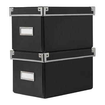 Ikea Kassett Boîte De Rangement Avec Couvercle Pour Cd