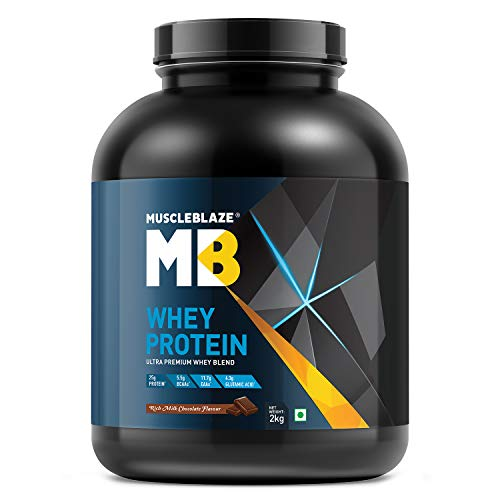 Muscleblaze 100% Whey Protein Supplement Powder – 2 kg, 60 servings (Rich Milk Chocolate)