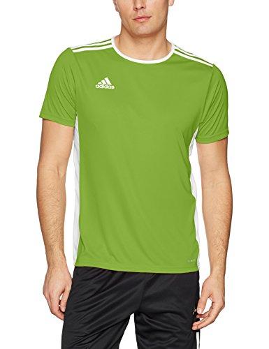 adidas Men's Soccer Entrada 18 Jersey, Rave Green/White, X-Small
