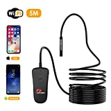 Pancellent Wireless Endoscope Camera 1080P WiFi HD Borescope with Semi Rigid Cable for Android/iOS Smartphone/iPhone/Samsung Tablet Devices (16.5FT/5M)