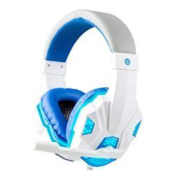 41KBx3GX FL - XuBa 3.5mm Earphone Gaming Headset Gamer Stereo Gaming Headphone with Microphone LED White and blue