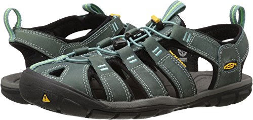 ac5a14eda8d5 KEEN-Womens-Clearwater-CNX-Leather-Sandal-Mineral-BlueYellow-