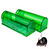 Humane Mouse Trap - Mouse Traps That Work - Best Mouse, Mice and Rat Trap - Plastic Traps Live Catch and Release Rodents, Safe Around Children and Pets (2Packs)