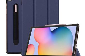 Robustrion Smart Trifold Hard Back Flip Stand Case for Samsung Galaxy Tab S6 Lite 10.4 inch SM-P610/P615 – Navy