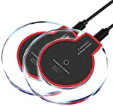 Keklle Wireless Charger,Youlifang 2-pack S6/S7/8 Wireless Charger Pad for iphone8/8plus iPhone X Samsung Galaxy S8/S7/S6/Edge/Plus/S6 Active,Moto Maxx, Moto Droid Turbo 2/Turbo,Google Nexus Black