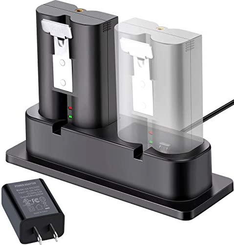 Battery Charger, Charging Station Compatible with Ring Spotlight Cam Battery, Ring Video Doorbell 2, Ring Stick Up Cam Battery (Ring Batteries NOT Included)