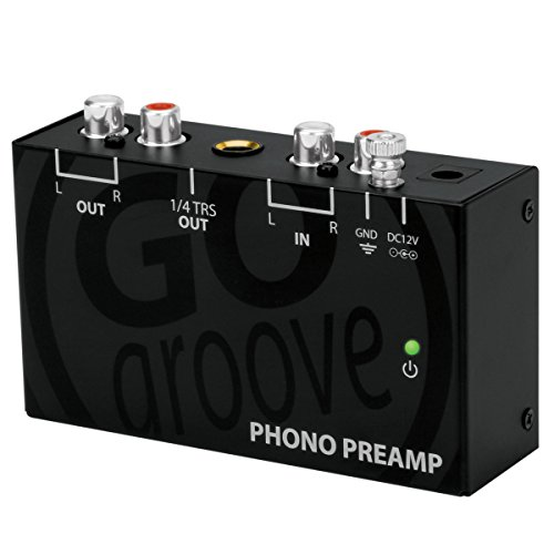 GOgroove Mini Phono Turntable Preamp Preamplifier with 12 Volt AC Adapter , RCA Input for Vinyl Record Player - Compatible With Audio Technica , Crosley , Jensen , Pioneer , 1byone and More Turntables