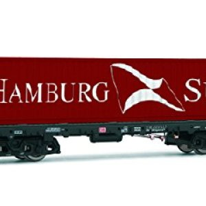 Rivarossi HR6404 Container Cart Sgmms 738 of DB AG Hamburg Süd Model Railway, Red 41KIuXkHanL