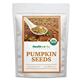 Healthworks Pumpkin Seeds (32 Ounces / 2 Pounds) Organic Shelled | All-Natural & Unsalted | Great Snack with Salads, Baking, Cereal & Oatmeal
