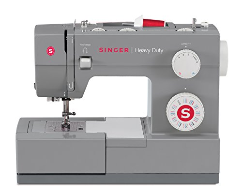SINGER   Heavy Duty 4432 Sewing Machine with 32 Built-in Stitches, Automatic Needle Threader, Metal Frame and Stainless Steel Bedplate, Perfect for Sewing All Types of Fabrics with Ease