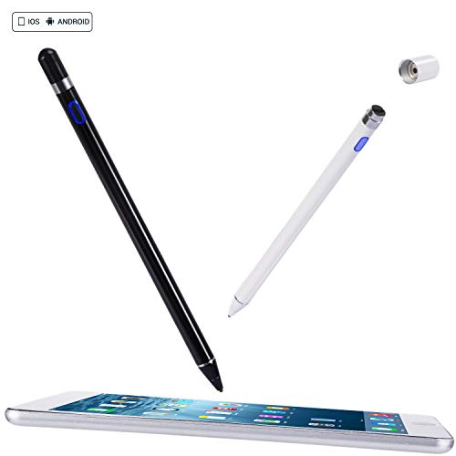 Active Stylus Pen, Suitable for Capacitive Touch Screen Devices, Wide Compatibility with iOS & Android Touch Tablet Devices, High Sensitivity & Precision for Writing and Drawing. (White)
