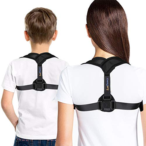 Posture Corrector for Women Kids, Adjustable Clavicle Brace for Shoulder Alignment, Neck, Back Spinal Pain Relief, Small (30'-36' in Chest Circumference)