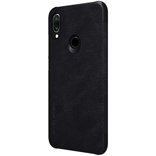 Nillkin Case for Xiaomi Redmi Note 7 Qin Genuine Classic Leather Flip Folio PC with Card Slot Black Color 3