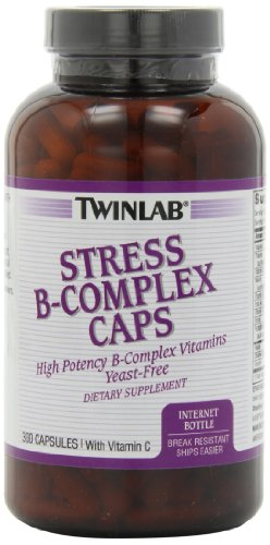 Twinlab Stress B-Complex Capsules with Vitamin C, 300 Count