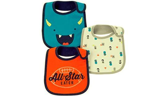 Carter's Child Of Mine Baby Boys' 3 Pack Bibs (Orange- All Star)
