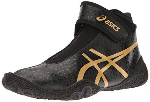 ASICS Men's Omniflex-Attack V2.0-M Wrestling Shoe Black/Rich Gold 7.5 M US