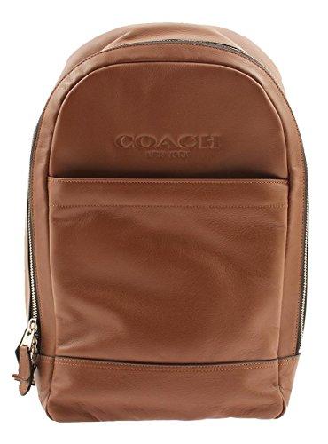 Coach Men Charles Slim Backpack in Sport Calf Leather, F54135 (Dark Saddle)