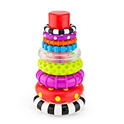 Stacking rings has never been more fun with the Stacks of Circles! The center of each ring is the same size, allowing it to be stacked in any direction for frustration-free play. The Stacks of Circles promotes early STEM learning by teaching a child ...