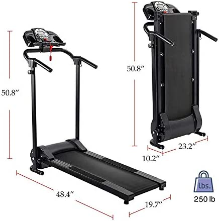 ZELUS Folding Treadmill for Home Gym, Portable Wheels, 750W Electric Foldable Running Cardio Machine with Cup Holder, Sports App Walking/Runners Exercise Equipment 4