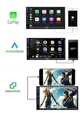 ATOTO-in-Dash-Double-Din-Digital-Media-Car-Stereo-SA102-YS102SL-CarPlay-Android-Auto-Receiver-wBluetooth-Phone-Mirroring-Auto-Link-AMFM-Radio-TunerUSB-Video-Audio