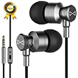 Marsno Earbuds, in Ear Earphones Headphones with Microphone,in-Line Remote - Wired Earbuds, Pure Sound,High Definition,Noise Isolating,Super Heavy BASS (Gray Upgraded)