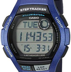 Casio Men's Step Tracker Quartz Sport Watch with Resin Strap, Blue, 19.4 (Model: WS-2000H-2AVCF) 15