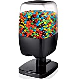 SHARPER IMAGE Motion Activated Candy Dispenser For Gumballs, Nuts, Snacks, Touchless Battery Operated Sensor Detector for Hands-Free Easy Fill Treats for Kids, Adults, Home/Office (Black, NEW VERSION)
