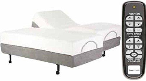 Adjustables by Leggett & Platt Simplicity Adjustable Bed Base, Wireless, Massage, Split King