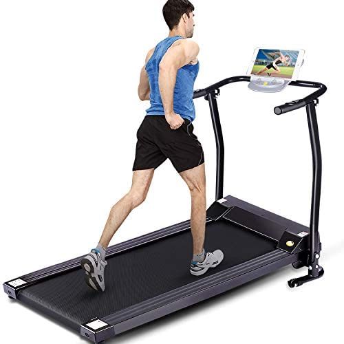 Electric Folding Treadmill for Small Spaces, Ultra-Quiet Portable Exercise Running Machine for Home Workout with 12 Programs & LCD Screen 8
