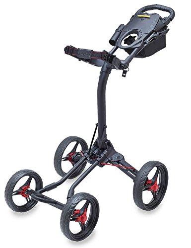 Bag Boy Quad XL Golf Cart, Matte Black/Red