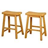 Product review for Target Marketing Systems Set of 2 24-Inch Belfast Wooden Saddle Stools, Set of 2, Rustic Oak